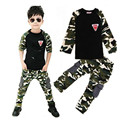 2017 New Camouflage Kids Clothing Set for Boys&Girls Spring&Autumn Cotton Camo Boys Sports Set Girls baby boy clothes clothes