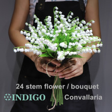INDIGO - Convallaria Plastic Flower White Wedding Bride Event Table Centerpiece Free Shipping