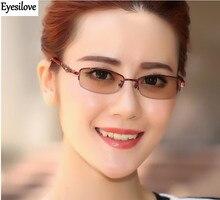цена на Eyesilove women myopia photochromic glasses lady myopia Glasses myopia sunglasses with Sensitive Transition lenses free shipping