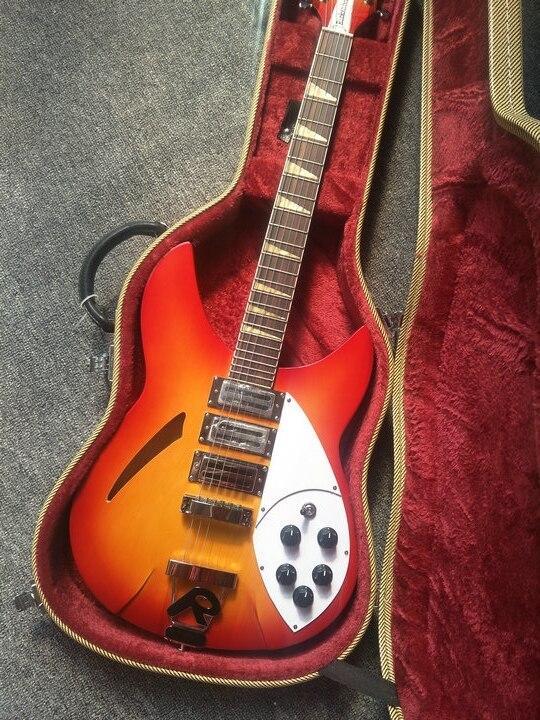 Nouvelle Arrivée rickenback 360 électrique guitare Ricken 325 3 micros guitare électrique Rick guitare personnalisée en cherry sunburst 330