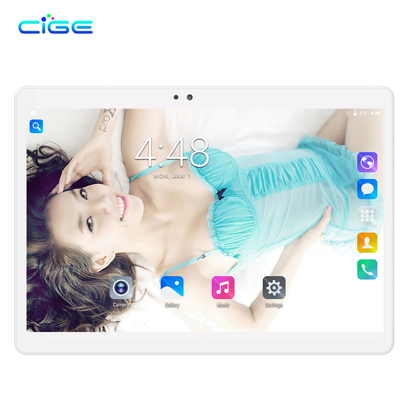 CIGE HOT 10 inch Tablet PC Octa Core 4GB RAM 32GB ROM 5.0MP Android 7.0 GPS 1280*800 IPS Dual sim cards 3G WCDMA GPS Tablets ainol numy note7 7 0 ips android 4 4 octa core 3g tablet pc w 1gb ram 32gb rom gps white
