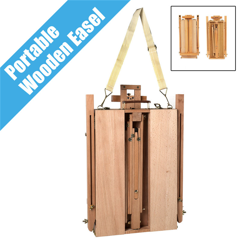 Portable Folding Durable French Easel Wooden Sketch Box Artist Painters Tripod Painting Supplies Easels image
