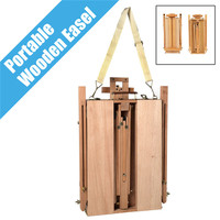 Portable Folding Durable French Easel Wooden Sketch Box Artist Painters Tripod Painting Supplies Easels