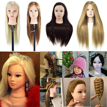 Female Mannequin Head Hair Maniqui Hairdressing Practice Heads Maniquies Women Educational Hairdresser Styling Training Head