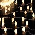 2016 Venda Quente AA bateria luz led string 50led bola cereja levou luz luz da decoração para casa/festa/casamento