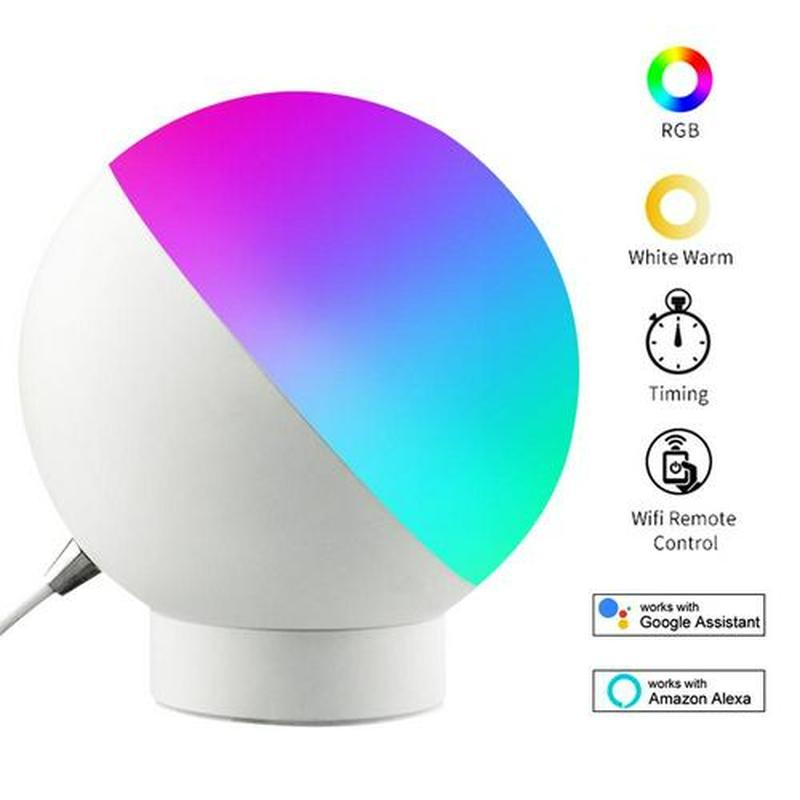 2019 NEW Smart home Eye Care Table Lamp 7W with EU/US plug Wifi Smart LED Light Bulb Works with Amazon Alexa Google Home Echo