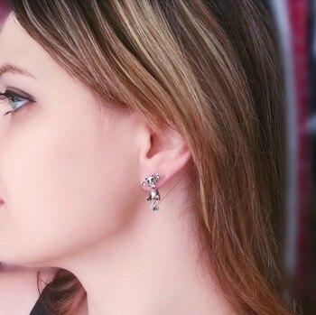 CHENGXUN New Fashion Cute Cat Stud Earrings Set For Women Girls For Children Baby Kids Animal Jewelry brincos feminino 2