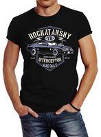 Herren T-Shirt Rockatansky V8 Interceptor Samochodów Slim Fit Neverless