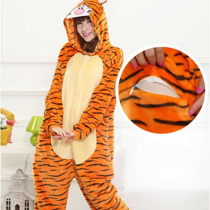 ... Пижама-ТИГР взрослых Onesie для женщин Тигр косплэй Костюм животных  пижамы фланель теплый вечерние партия ... a3c1c00f84bda