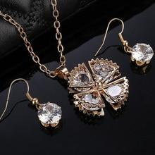 Bridal Wedding Jewelry Sets For Women 2017 Austrian Crystal