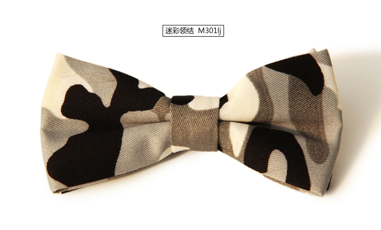 2016 New Arrival Camouflage Print Men Suit Bow Tie Army Green Blue Pink Fashion Trendy