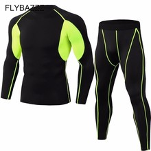 Fitness MMA Running Shirt Sets Quick Dry Basketball Gym Jogging Suit Men Long Sleeve Compression Yoga Sport Fitness Set Clothes цена и фото