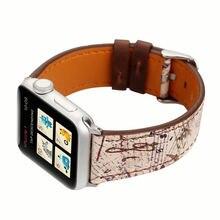 Ремешок кожаный спортивный для apple watch band 44 мм браслет