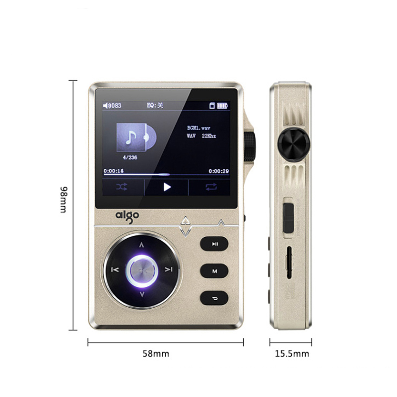 Aigo mp3 108 High quality lossless hifi music player with screen portable 8G