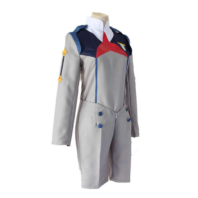 Anime LIEBLING in die FRANXX HIRO ICHIGO MIKU KOKORO Schuluniform Cosplay Kostüm Sets Halloween Anzug Outfit perücken