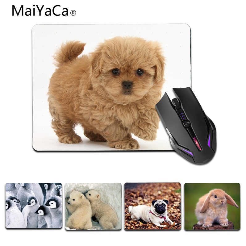 24eadc549a06 MaiYaCa Simple Design Cute penguin rabbit bear dog gamer play mats Rubber  Mouse pad Size for 18x22cm 25x29cm Small Mousepad