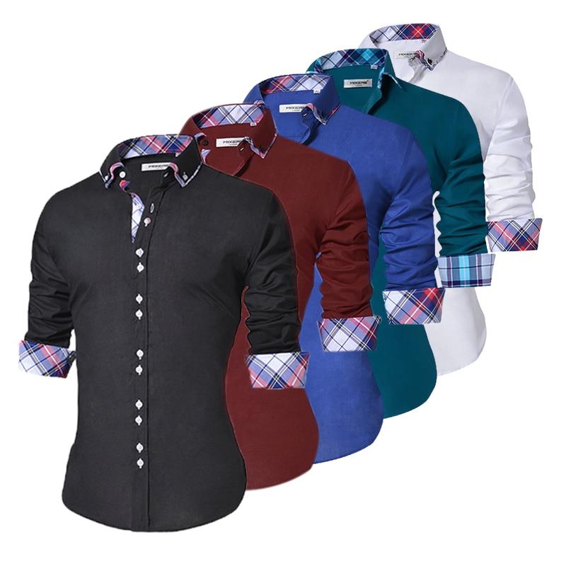 Design Casual Shirt Men Cotton Dress Shirts  1