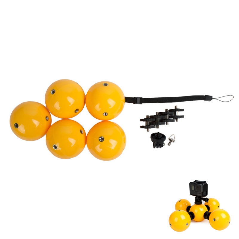 Top Deals 5pcs/set Underwater Floaty Anti-settling Ball Diving Multi-function Omnibearing Buoyancy Ball Combo for Hero SJCAM