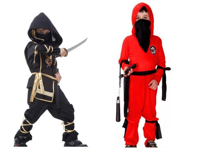 Kids New Halloween Costume Warrior Boys Japanese Samurai Clothes Cool Cosplay Clothing For Masquerade Party