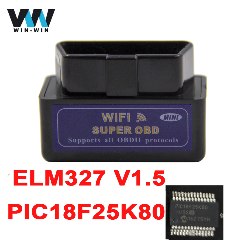 Super ELM327 V1.5 WIFIBluetooth PIC18F25K80 OBD2 OBDII Code Reader Diagnostic Scanner Elm 327 Bluetooth Wifi for AndroidIOSPC