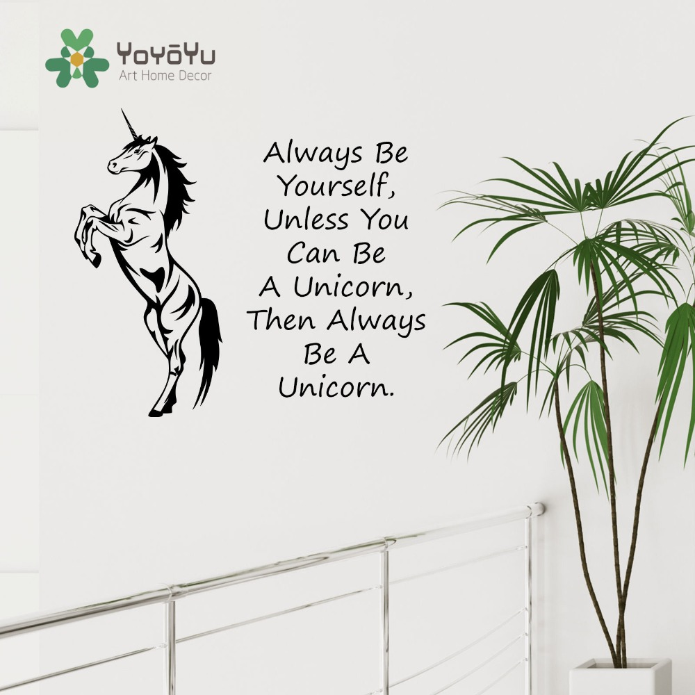 Unicorn Horse Wall Art Sticker Always Be Yourself Unless