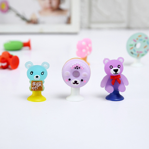 15pcs/lot Cartoon Cute Animals Candy Colors Chick Bear Rabbit Donuts Mini Sucker Cup Funny Creative Toy Kids Pencil Topper Decor