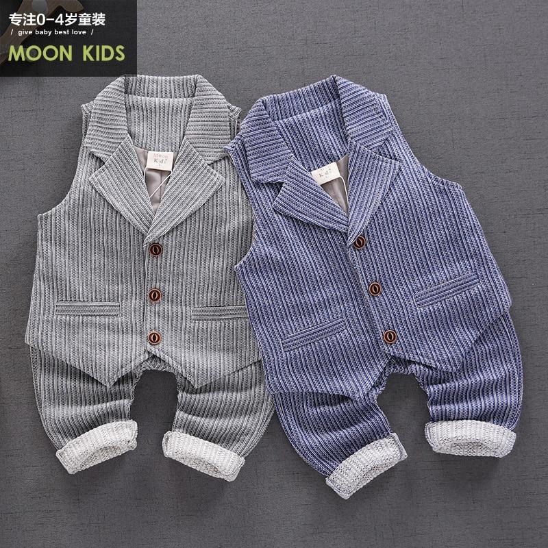 La Vogue Little Boys Solid Cotton Uniform Sweater Vest Cable Knit Bow Pullover Sweaters Waistcoat Round Neck