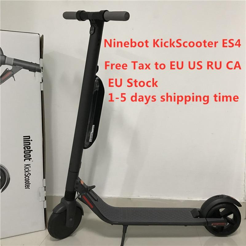 US $603 25 5% OFF EU Stock Original Ninebot KickScooter ES4 / ES2 Smart  Electric Scooter Foldable 30 km/h 45 km Mileage Lightweight Skate Board-in