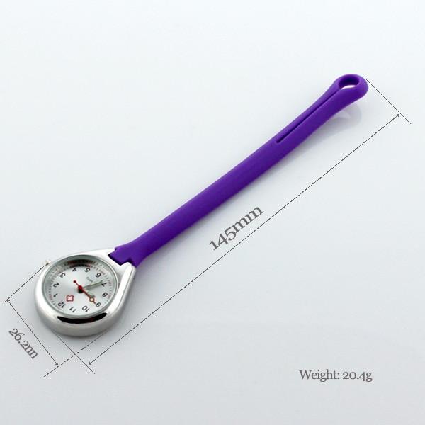 Nurse Fob Hanging Loop Silicone Nurse Watch Clip Pocket Doctor  Nursing Gift Watches Lapel Fob Pocket Brooch Hospital Clock