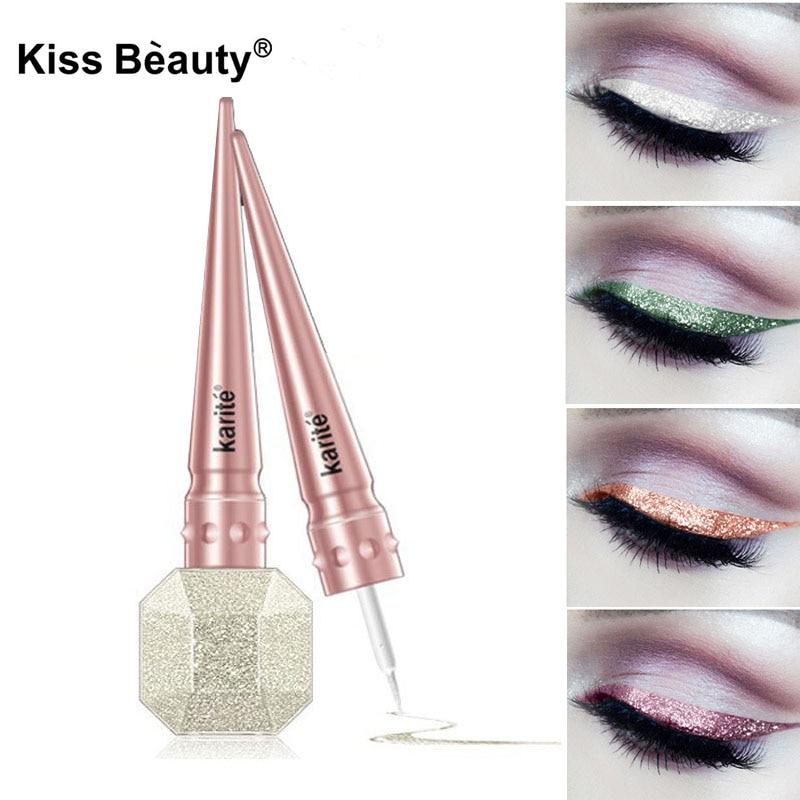 Glitter Eyeliner Make Up Metallic 6 Colors Shining Eyes Liner Cosmetics 2018 Waterproof Diamond Shimmer Makeup Liquid Eyeliner