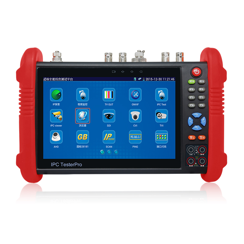 NEW 7 touch screen CCTV Tester Pro Monitor HDMI 1080P Output Analog IP Camera Tester DC12V