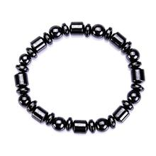 Black Cool Magnetic Slimming Bracelet Beads Hematite Stone Therapy Health Care Magnet Beads Bracelet font b