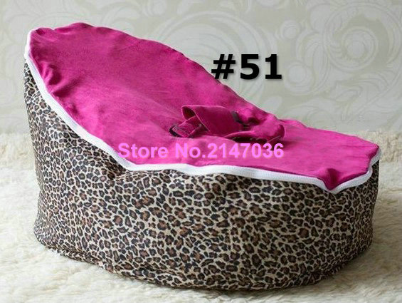 Pink leopards hotsell baby bean bag chair with 2 upper covers for replace - fashion floral kids beanbag sofa seat 2016 hot baby beanbag with filler baby bean bag bed baby beanbag chair baby bean bag seat washable infant kids sofa cp10