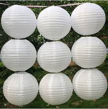 White Color Chinese Paper Lanterns 10/15/20/25/30/35/40cm for Wedding Event Party Decoration Holiday Supplies Paper Ball(China)