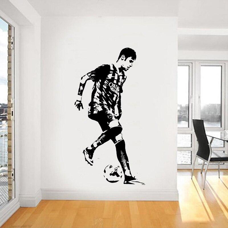 Aliexpress Buy Neymar Da Silva Santios Junior Wall Art Sticker