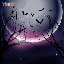 Yeele Halloween Moon Horror Glitters Sky Customized Photography Backdrops Personalized Photographic Backgrounds For Photo Studio