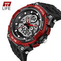 Fashion TTLIFE watch Male Dual Display Electronic Watches Unisex analog AntiShock Wrist Watches PU Resin Healthy Soft Strap