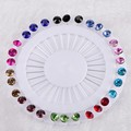 New Hijab Pins Wholesale 30PCS Flower Crystal Muslim Hijab Brooches For Women Safety Scarf Pins Hijab Pins Silver Pins Mix Color
