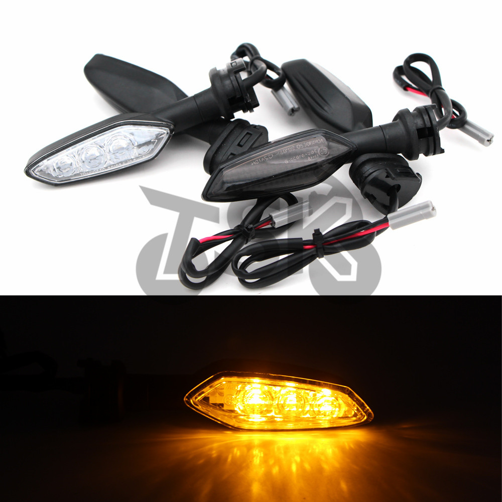 Turn Signals Motorcycles LED Front Back Modified Round Connector For YAMAHA R1 R6