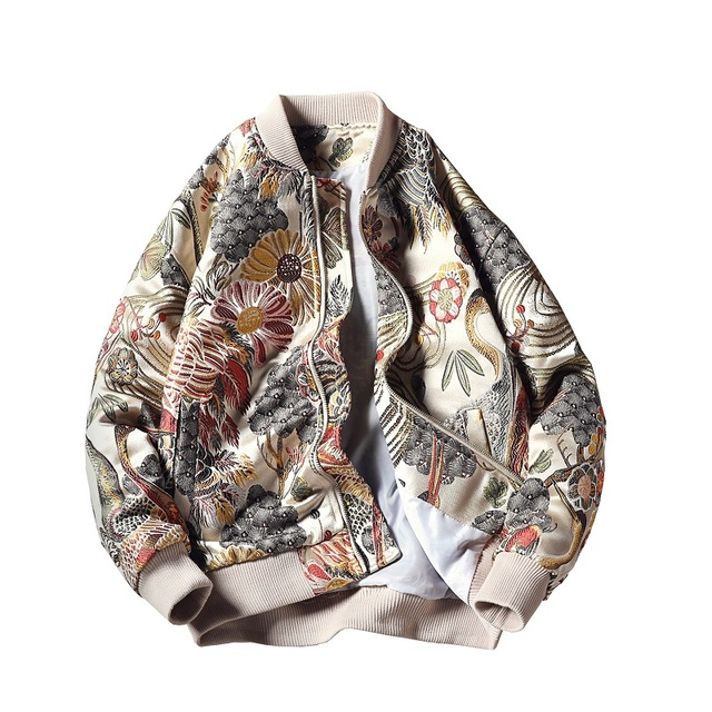 Embroidery Men Jacket Coat Man Hip Hop Streetwear Jacket Bomber Jacket Male Clothing Sping Yokosuka High Street Coats ,GA352