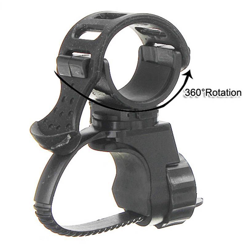 Adjustable 360 Degree Bike Bicycle Flashlight Torch Mount Holder Clamp Clip Light Lamp Holder Clip