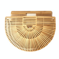 Handbags Woven Straw Women Bamboo Bags Female Causal Totes Small Hollow Summer Beach Bags For Ladies