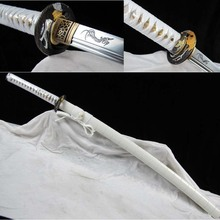 CUSTOMIZED ACCEPTED HIGH QUALITY 1060 CARBON STEEL JAPANESE KATANA SWORD SAMURAI FULL TANG SHARP CAN CUT