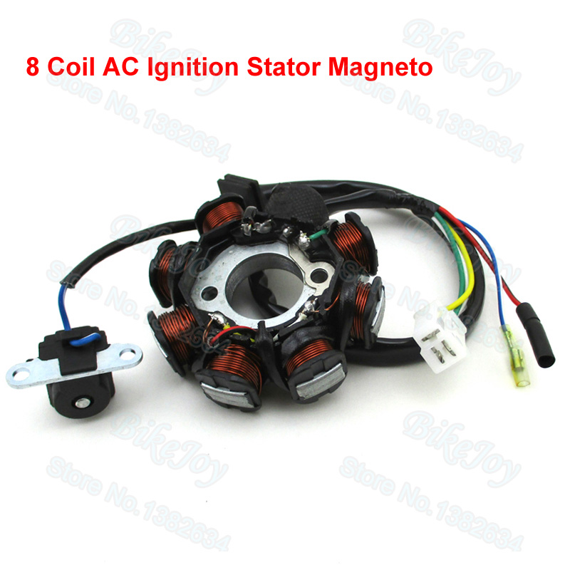 8 Coil AC Ignition Stator Magneto For GY6 50cc Scooter