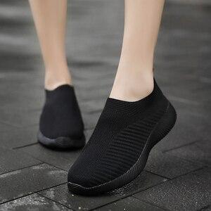 Las mujeres calcetín zapatillas de deporte, Zapatos con luz, sapato femenino hueco tmallfs Zapatos buty damskie Zapatos de gran tamaño 35- 43