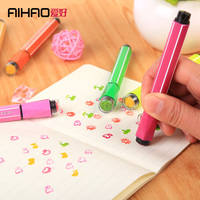 AIHAO Watercolor Pen With Cartoon Stamp Kid S Art Marker Water Washable 12 18 24 Colors
