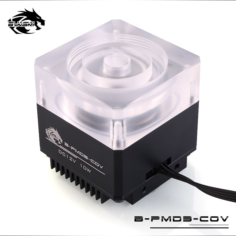 Bykski DDC Pump DC12V 10W Maximum Flow Lift 6 Meters 600L/H Radiator Size 62*62*58mm Support Combo Reservoir / 5V RBW 3PIN Light