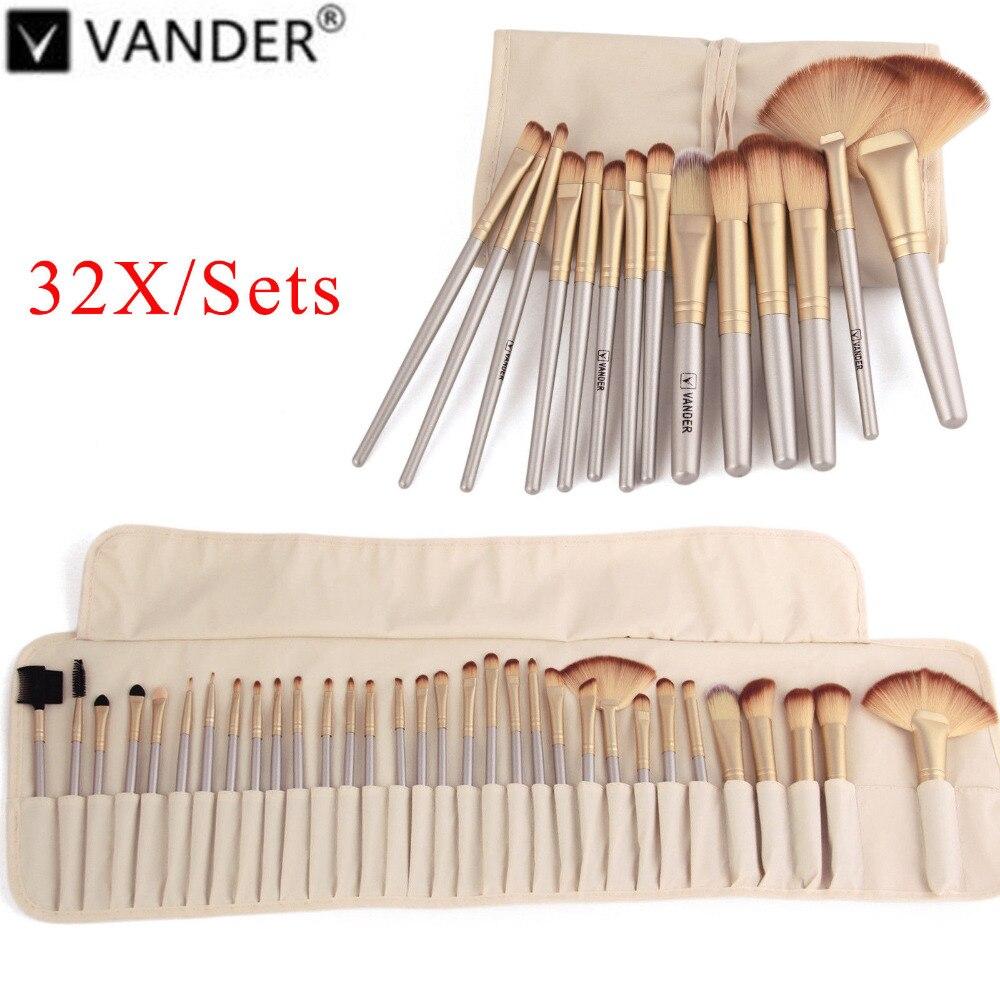 Vanderlife 32 stücke Make-Up Pinsel Professional Weiche Kosmetik Make Up Pinsel Set Kabuki Foundation Pinsel Lippenstift Schönheit maquillaje