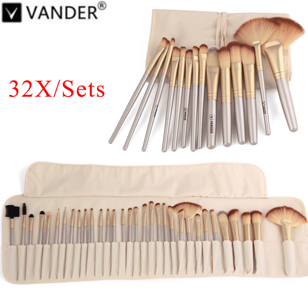 Vanderlife 32Pcs Makeup Brushes Professional Soft Cosmetics Make Up Brush Set Kabuki Foundation Brush Lipstick Beauty maquillaje цены