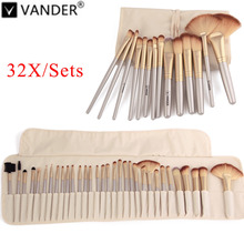 Vanderlife 32Pcs Makeup Brushes Professional Soft Cosmetics Make Up Brush Set Kabuki Foundation Brush Lipstick Beauty maquillaje professional 10pcs white silver jessup brand makeup brushes set beauty foundation kabuki brush cosmetics make up brushes kit